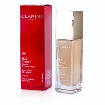 Clarins Skin Illusion Natural Radiance Base de Maquillaje SPF 10 - # 110 Honey