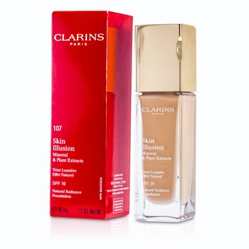 Clarins Skin Illusion Base Maquillaje Radiancia Natural SPF 10 - # 107 Beige 402671
