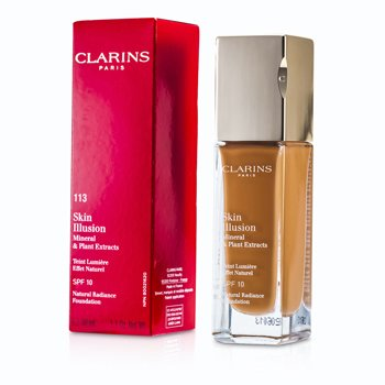 Clarins Skin Illusion Base Maquillaje Radiancia Natural SPF 10 - # 113 Chestnut 402731