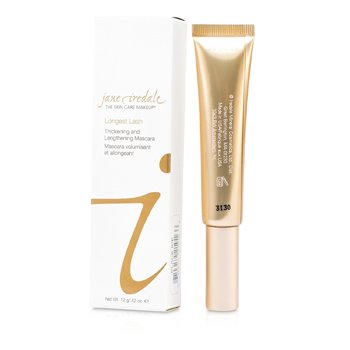 Jane Iredale Longest Lash Thickening & Lengthening Mascara - Longitud y Volumen - Black Ice