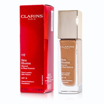 Clarins Skin Illusion Natural Radiance Base de Maquillaje SPF 10 - # 112 Amber