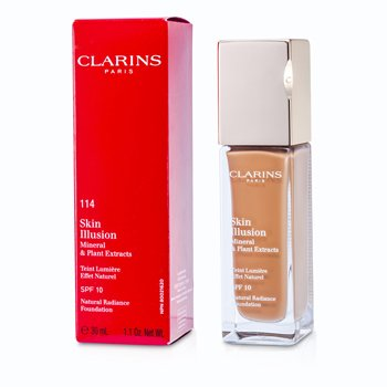 Clarins Skin Illusion Natural Radiance Base de Maquillaje SPF 10 - # 114 Cappuccino