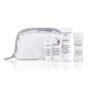 Payot Set Absolute Pure White: Loción 30ml +  Mousse Clarte 25ml + Clarte Du Jour 15ml + Concentrado Anti-soif Clarte 10ml