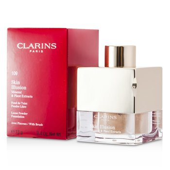 Clarins Skin Illusion Mineral & Plant Extracts Base Maquillaje Polvos Sueltos (Con Brocha)- # 109 Wheat