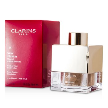 Clarins Skin Illusion Mineral & Plant Extracts Base Maquillaje Polvos Sueltos (Con Brocha) - # 114 Cappuccino