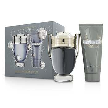Paco Rabanne Invictus Coffret: Eau De Toilette Spray 100ml + Champú Para Todo 100ml