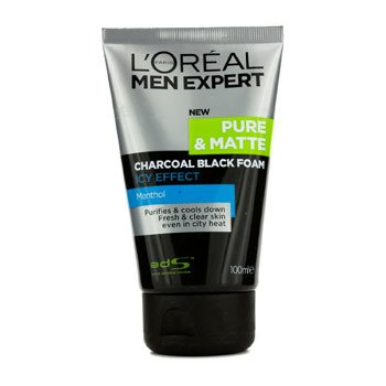 Men Expert Pure & Matte Icy Effect Charcoal Espuma Negra