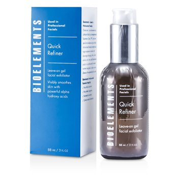 Bioelements Quick Refiner - Leave-on Gel Facial Exfoliante - Para Todo Tipo de Piel, Excepto Sensible