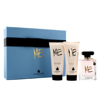 Lanvin Me Coffret: Eau De Parfum Spray 80ml + Loción Corporal 100ml + Gel de Ducha 100ml