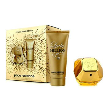 Paco Rabanne Lady Million Special Travel Edition Coffret: Eau De Parfum Spray 80ml + Loción Corporal Sensual 100ml