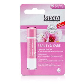 Lavera Bálsamo de Labios - Beauty & Care Rose