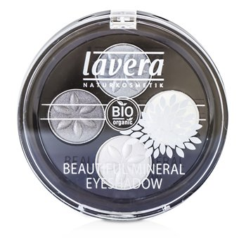 Lavera Beautiful Sombra de Ojos Mineral Quattro - # 01 Smoky Grey