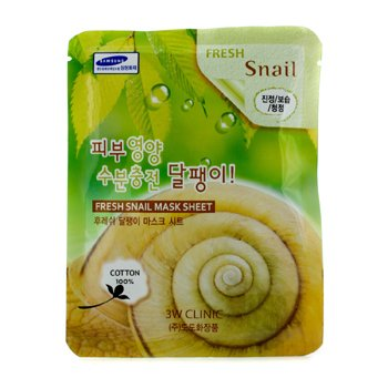 3W Clinic Mask Sheet - Fresh Snail