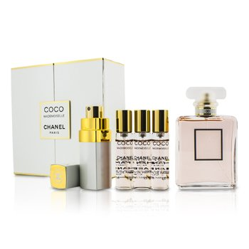 Chanel Coco Mademoiselle Coffret: Eau De Parfum Spray 50ml +  Spray de Cartera con 2 Repuestos 4x7.5ml