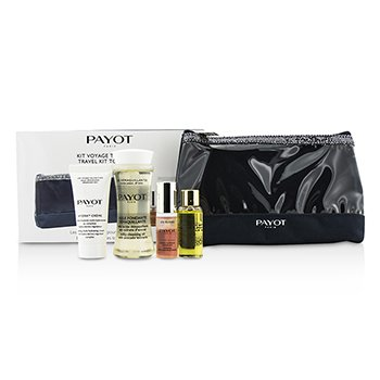 Payot Travel Kit Top To Toe Set: Cleansing Oil 50ml + Cream 15ml + Elixir DEan Essence 5ml + Elixir Oil 10ml
