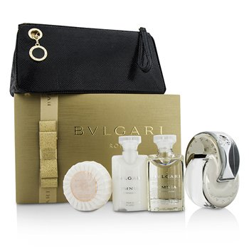 Bvlgari Omnia Crystalline Coffret: Eau De Toilette Spray 65ml + Loción Corporal 40ml + Gel de Ducha 40ml + Jabón50g + Bolsa