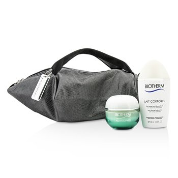 Biotherm Aquasource & Body Care X Mandarina Duck Coffret: Crema N/M 50ml + Cuidado Corporal Anti Sequedad 100ml + Bolsa