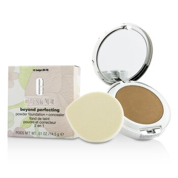 Clinique Beyond Perfecting Base en Polvo + Corrector - # 15 Beige (M-N)