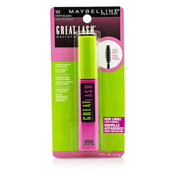 Maybelline Great Lash Máscara con Pincel Volumen Clásico - #101 Very Black