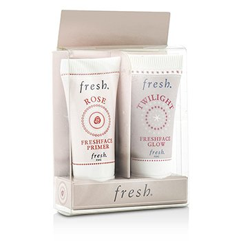 Fresh Set Prime & Glow: 1x Mini Rose FreshPrimer Facial, 1x Mini Twilight Freshface Brillo