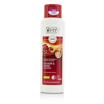 Lavera Organic Cranberry & Organic Avocado Champú Color & Brillo (Para Cabello Tratado con Color)