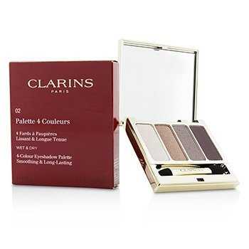 Clarins 4 Colour Eyeshadow Palette (Smoothing & Long Lasting) - #02 Rosewood