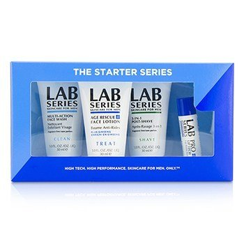 Aramis Lab Series The Starter Series: Jabón Facial Multi Acción 30ml + Loción Facial 30ml + Post Afeitado 30ml + Bálsamo de Labios 4.3g