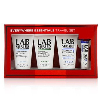 Aramis Lab Series Set de Viaje: Jabón Facial Multi Acción 30ml + Loción Facial 30ml + Crema de Afeitar 30ml + Bálsamo de Labios 4.3g
