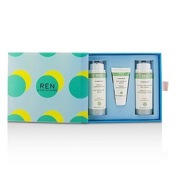 Ren Kit Evercalm Piel Sensible: 1x Leche Limpiadora Suave 50ml, 1x Suero Anti-Enrojecimiento 10ml, 1x Global Protection Crema de Día 50ml