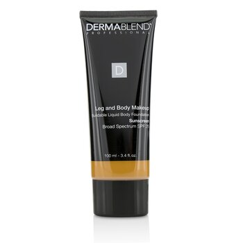 Dermablend Leg and Body Make Up Buildable Liquid Body Foundation Sunscreen Broad Spectrum SPF 25 - #Tan Golden 65N