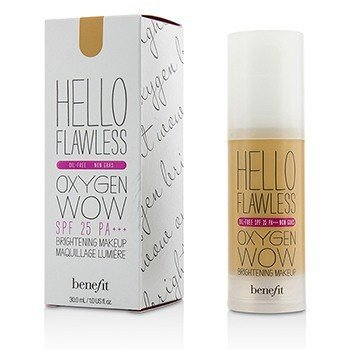Benefit Hello Flawless Oxygen Wow Maquillaje Iluminador SPF 25 (Libre de Aceite) - # Warm Me Up (Toasted Beige)