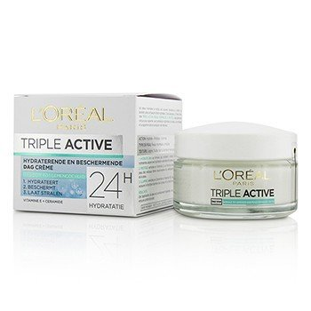 LOreal Triple Active Multi-Protective Day Cream 24H Hydration - For Normal/ Combination Skin