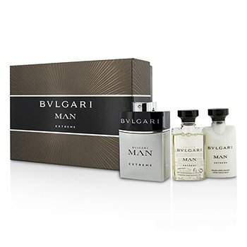 Bvlgari Man Extreme Coffret: Eau De Toilette Spray 60ml + Bálsamo Para Después de Afeitar 40ml + Gel de Ducha 40ml