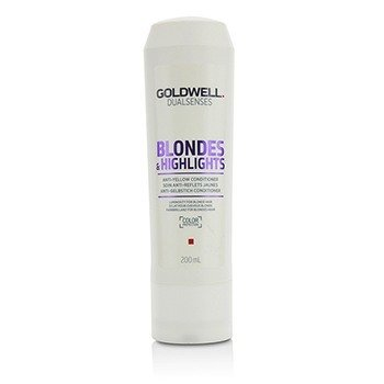 Goldwell Dual Senses Blondes & Highlights Acondicionador Anti-Amarillo (Luminosidad Para Cabello Rubio)