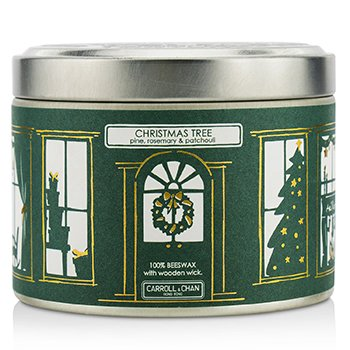 The Candle Company Vela de Lata - Beeswax, Christmas Tree