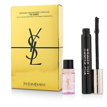 Yves Saint Laurent The Shock Mascara Set : 1x Mascara+ 1x Expert Make Up Remover