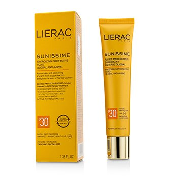 Lierac Sunissime Global Anti-Aging Energizing Protective Fluid SPF30  For Face & Decollete