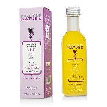 AlfaParf Precious Nature Todays Special Oil with Grape & Lavender (For Curly & Wavy Hair)