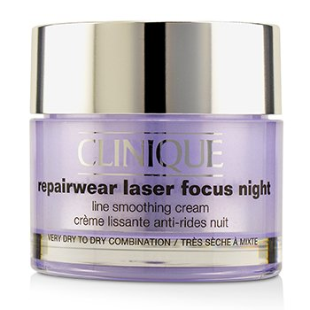 Clinique Repairwear Laser Focus Night Line Smoothing Cream - Very Dry To Dry Combination