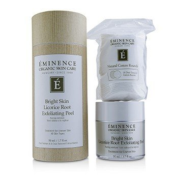 Eminence Bright Skin Licorice Root Exfoliating Peel (with 35 Dual-Textured Cotton Rounds)