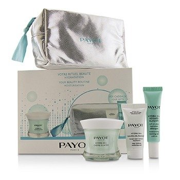 Payot Hydra 24+ Coffret: 1x Cuidado Hidratante Llenador 50ml, 1x Roll On de Ojos Revividor de Hidratación 15ml, 1x Mascarilla Confortante 15ml, 1x Bolsa