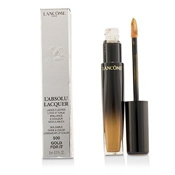 Lancome LAbsolu Lacquer Brillo & Color Edificables Longwear Color de Labios - # 500 Gold For It