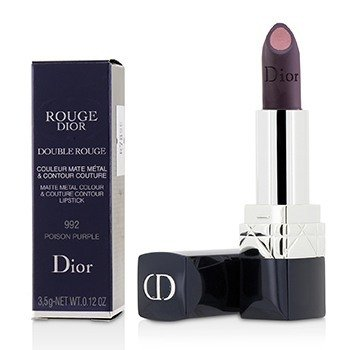 Christian Dior Rouge Dior Double Rouge Pintalabios Color Metal Mate & Contorno - # 992 Poison Purple