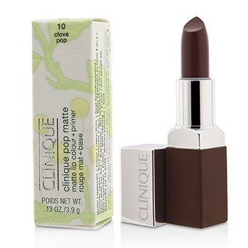 Clinique Pop Matte Color de Labios + Primer - # 10 Clove Pop