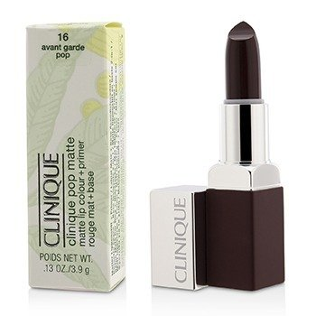 Clinique Pop Matte Color de Labios + Primer - # 16 Avant Garde Pop