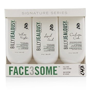 Billy Jealousy Kit Face3Some: Hidratante Facial 88ml + Limpiador Facial Hidratante 88ml + Limpiador Facial Diario Suave 88ml