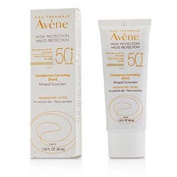 Avene Complexion Correcting Shield Mineral Sunsreen SPF 50+ - #Light (For Sensitive Skin)
