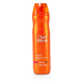 Wella Enrich Moisturizing Shampoo For Dry & Damaged Hair - Fine/Normal (MFG Date: May 2015)