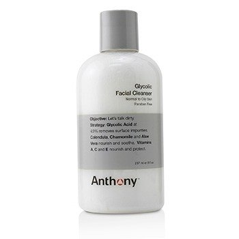 Anthony Logistics For Men Glycolic Facial Cleanser - For Normal/ Oily Skin (Unboxed)