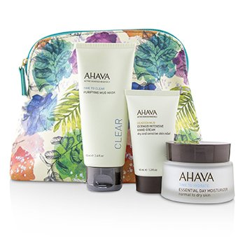 Ahava Elements Of Love Natural Love Essentials: Hidratante Diario Esencial + Mascarilla de Lodo Purificante + Dermud Crema de Manos Intensiva + Bolsa